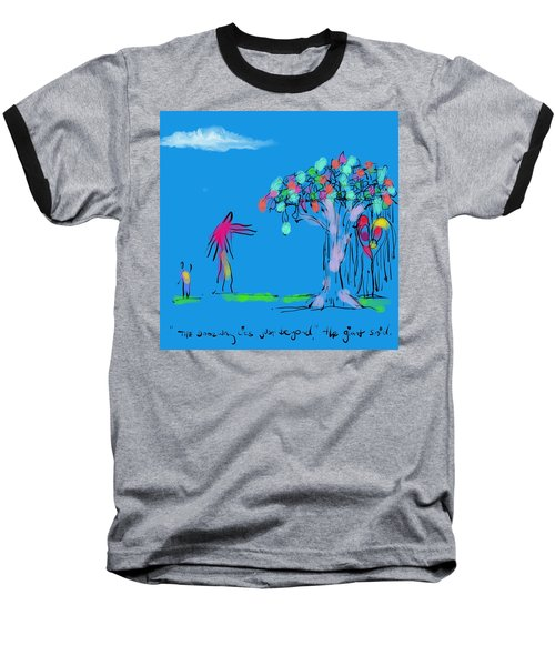 Giant, Boy, And Doorway Baseball T-Shirt