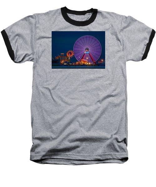 Giant Ferris Wheel Baseball T-Shirt by Wayne King