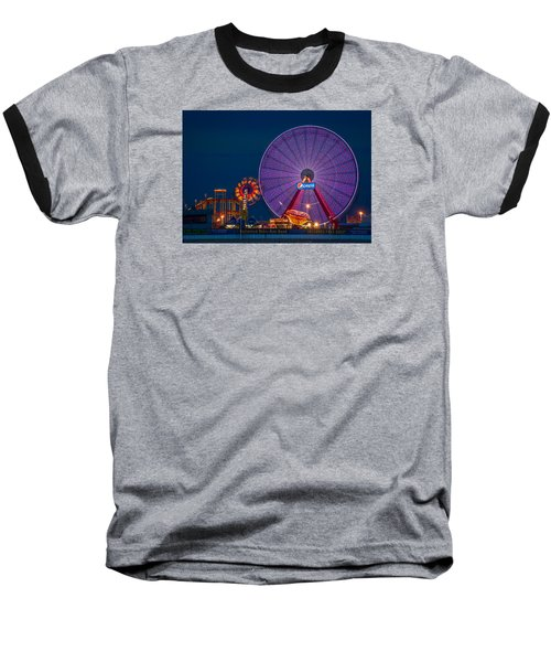Giant Ferris Wheel Baseball T-Shirt