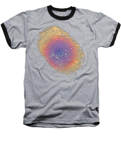 Giant Iridescent Fingerprint On Salmon Roe Pink Set Of 4 - 2 Of 4 Baseball T-Shirt