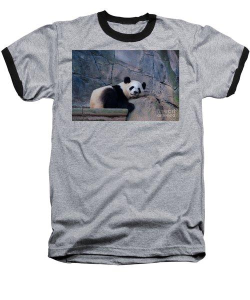 Giant Panda Baseball T-Shirt by Donna Brown