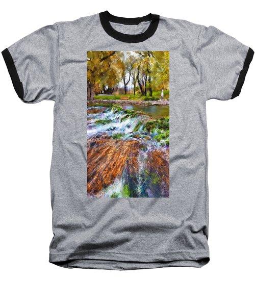 Giant Springs 2 Baseball T-Shirt by Susan Kinney