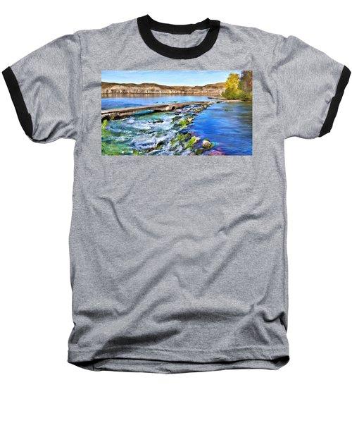 Giant Springs 3 Baseball T-Shirt by Susan Kinney