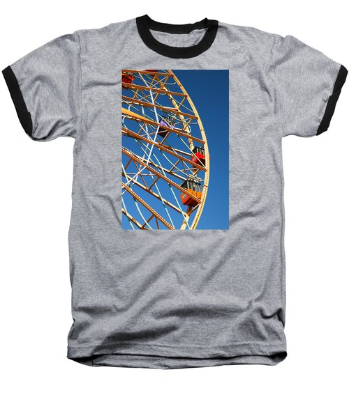 Baseball T-Shirt featuring the photograph Giant Wheel by James Kirkikis