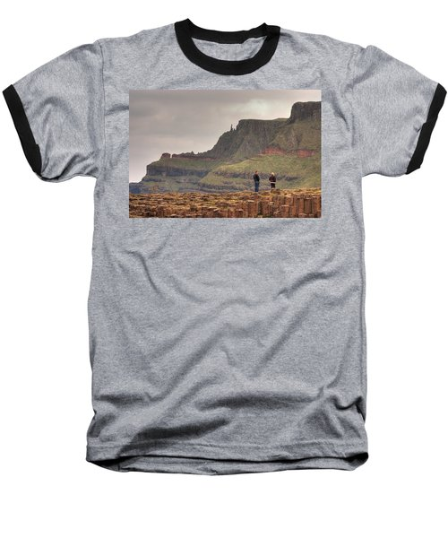 Baseball T-Shirt featuring the photograph Giants Causeway by Ian Middleton