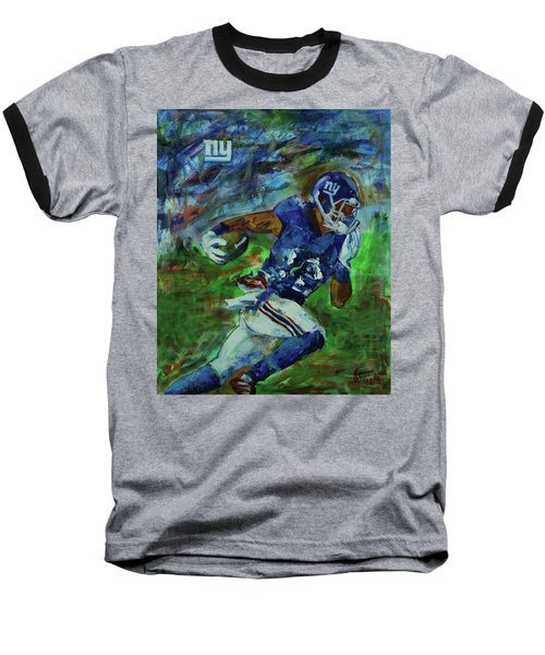 Ny Giants -  Big Blue Baseball T-Shirt by Walter Fahmy