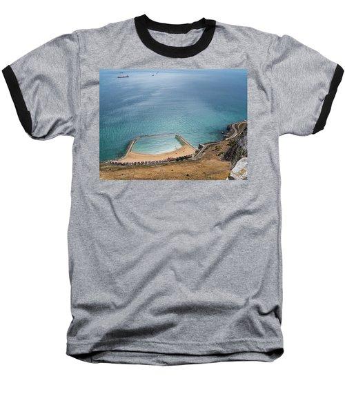 Gibraltar Rock View To The Beach Baseball T-Shirt