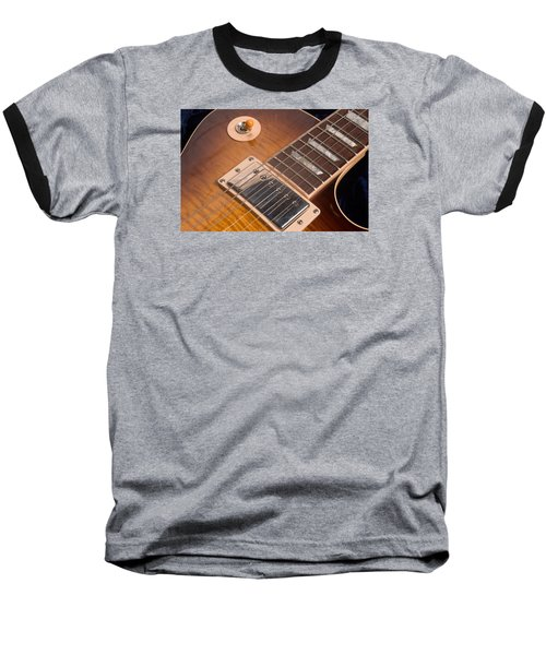 Gibson Les Paul Guitar By Gene Martin Baseball T-Shirt