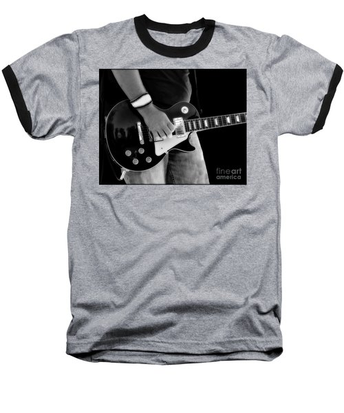 Gibson Les Paul Guitar  Baseball T-Shirt by Randy Steele