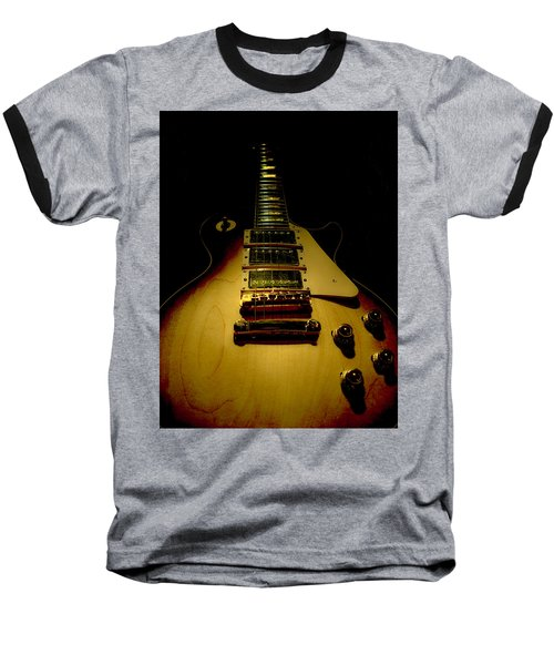 Baseball T-Shirt featuring the digital art Guitar Triple Pickups Spotlight Series by Guitar Wacky