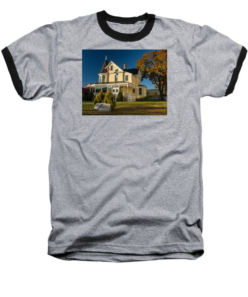 Baseball T-Shirt featuring the photograph Gibson Woodbury House North Conway by Nancy De Flon