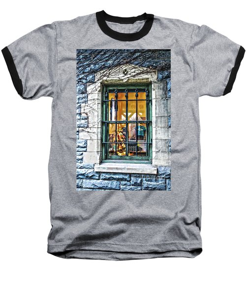 Baseball T-Shirt featuring the photograph Gift Shop Window by Sandy Moulder
