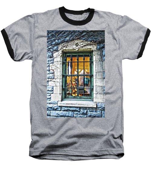 Gift Shop Window Baseball T-Shirt