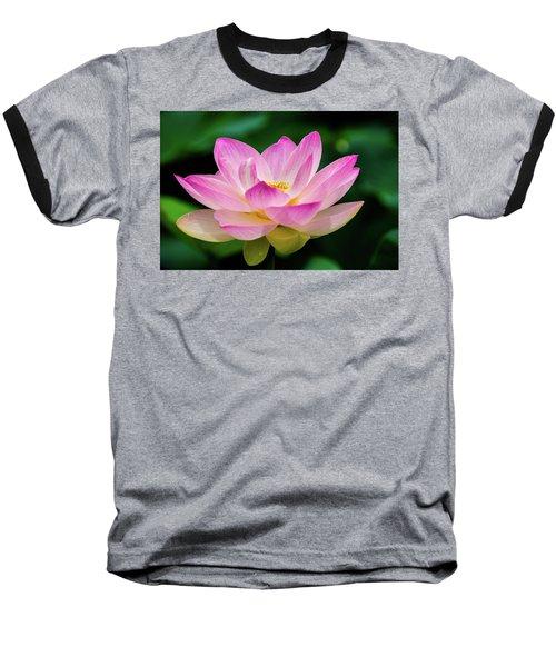 Gigantic Lotus Red Lily Baseball T-Shirt