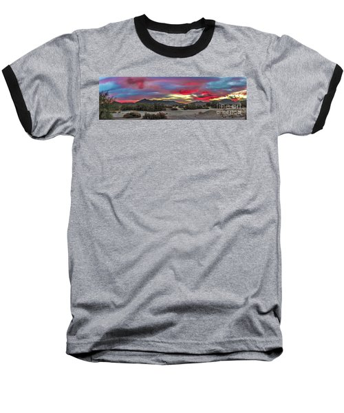 Baseball T-Shirt featuring the photograph Gila Mountains And Sonoran Desert Sunrise by Robert Bales