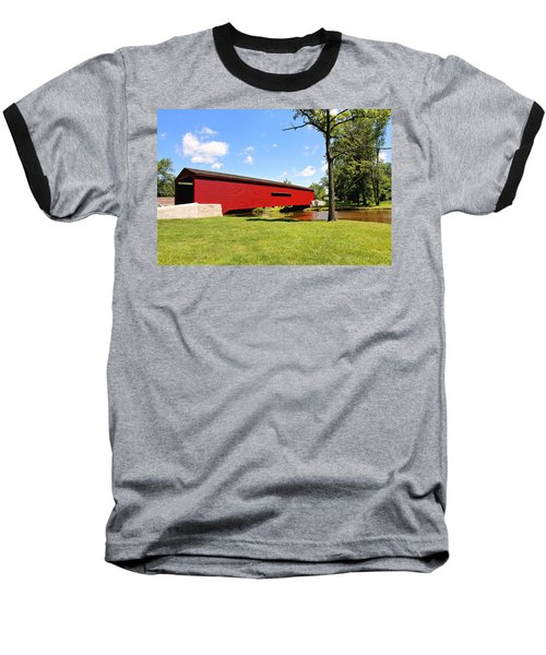 Gilpin's Falls Covered Bridge Baseball T-Shirt