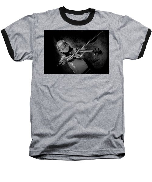Gilrs And  Music Baseball T-Shirt by Kevin Cable