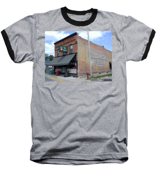 Baseball T-Shirt featuring the photograph Gina's Pies Are Square by Mark Czerniec