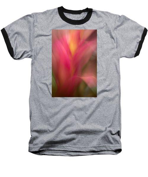 Ginger Flower Blossom Abstract Baseball T-Shirt