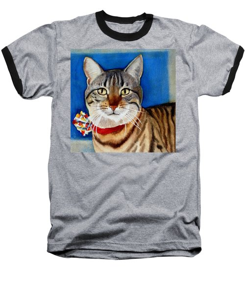 Baseball T-Shirt featuring the painting Ginger by Marilyn Jacobson