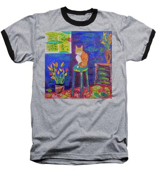 Ginger The Cat Baseball T-Shirt