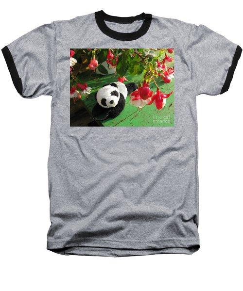 Baseball T-Shirt featuring the photograph Ginny Under The Red And White Fuchsia by Ausra Huntington nee Paulauskaite