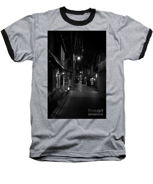 Baseball T-Shirt featuring the photograph Gion Street Lights, Kyoto Japan by Perry Rodriguez