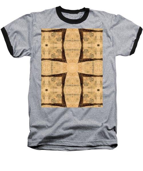 Giraffe Cross Baseball T-Shirt by Maria Watt