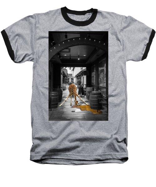 Giraffe Drinking Whiskey Series 4987y Baseball T-Shirt