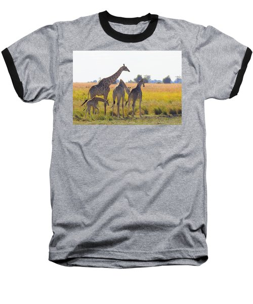 Baseball T-Shirt featuring the photograph Giraffe Family by Betty-Anne McDonald