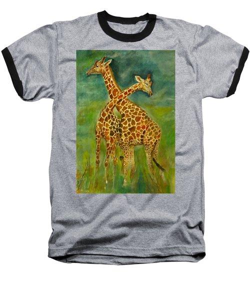 Lovely Giraffe . Baseball T-Shirt by Khalid Saeed
