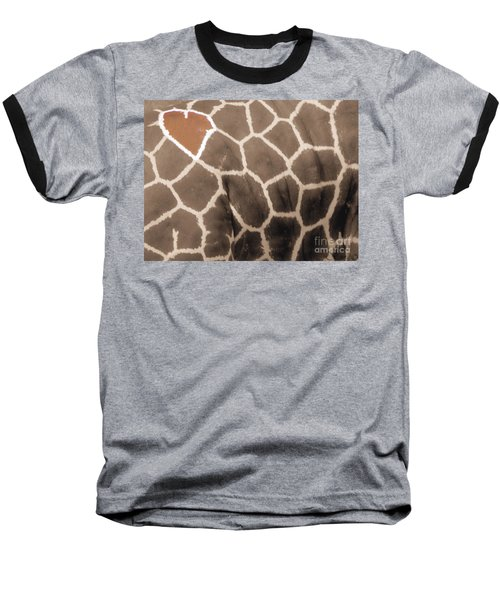 Giraffe Love Baseball T-Shirt