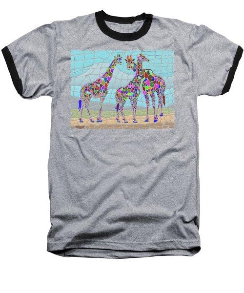 Giraffe Maze Baseball T-Shirt by Anthony Mwangi