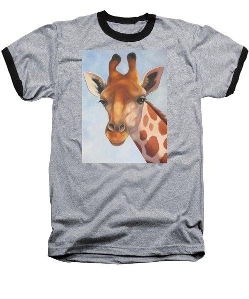 Giraffe Baseball T-Shirt by Vivien Rhyan