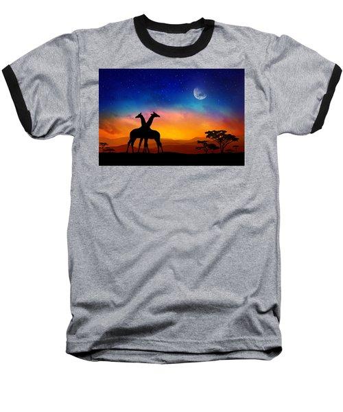 Giraffes Can Dance Baseball T-Shirt by Iryna Goodall