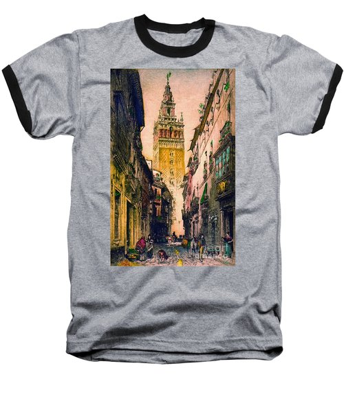 Giralda 1916 Baseball T-Shirt by Padre Art