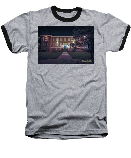 Baseball T-Shirt featuring the photograph Girard Hall At Night by Gregory Daley  PPSA