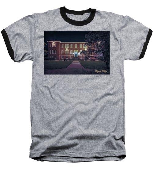 Girard Hall At Night Baseball T-Shirt by Gregory Daley  PPSA