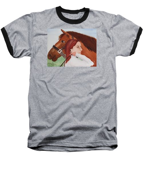 Girl And Her Horse Baseball T-Shirt