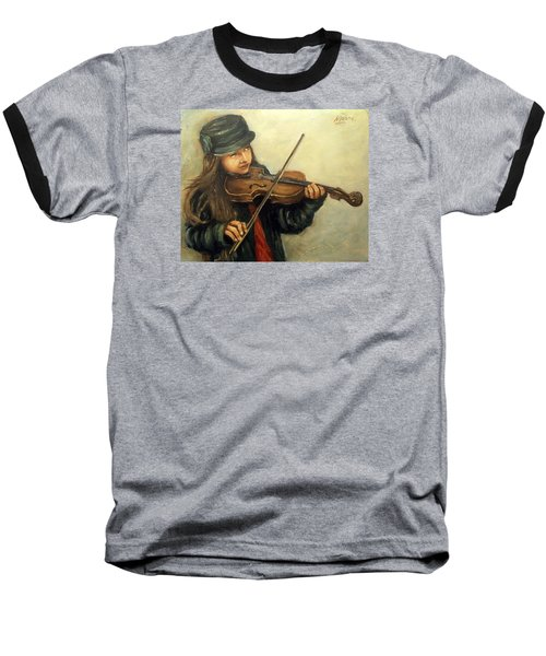 Girl And Her Violin Baseball T-Shirt