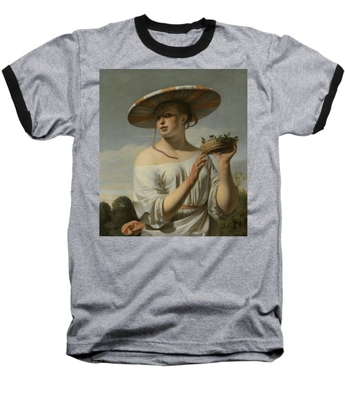 Girl In A Large Hat, C.1645-1650 Baseball T-Shirt