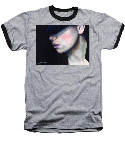 Girl In Black Hat Baseball T-Shirt