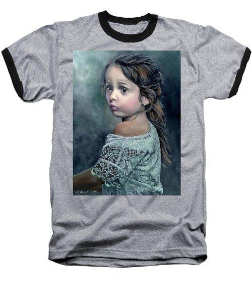 Girl In Lace Baseball T-Shirt