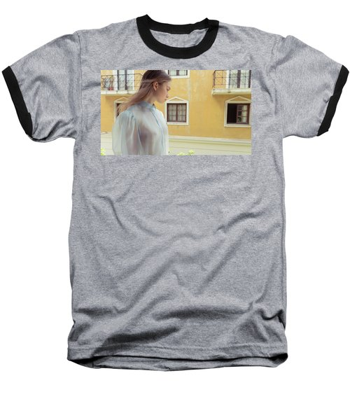 Girl In Profile Baseball T-Shirt