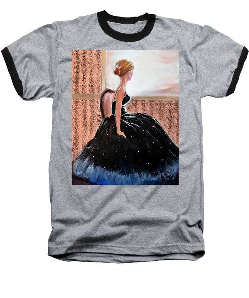Girl In The Sequin Gown Baseball T-Shirt by Gary Smith