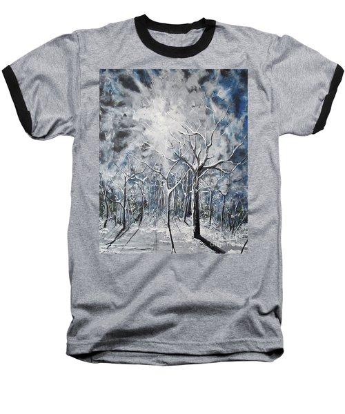 Girl In The Woods Baseball T-Shirt