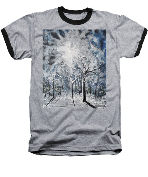 Girl In The Woods Baseball T-Shirt