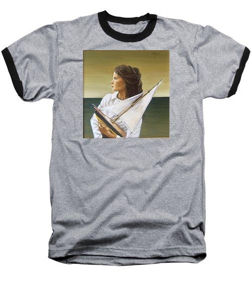 Girl Baseball T-Shirt by Natalia Tejera
