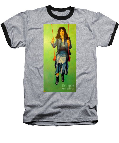 Girl On The Swing  80x160 Cm Baseball T-Shirt