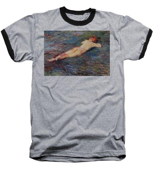 Girl On Volcanic Beach, Spain Baseball T-Shirt